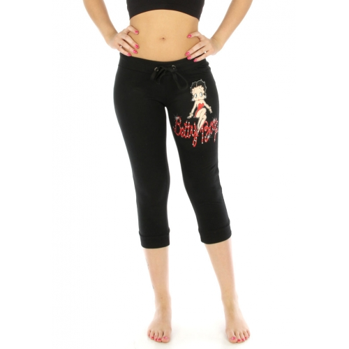 wholesale N08 Betty boop cotton capri pants Black