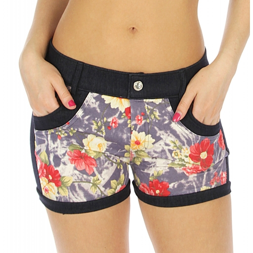 Wholesale H17 Cotton blend floral short pants