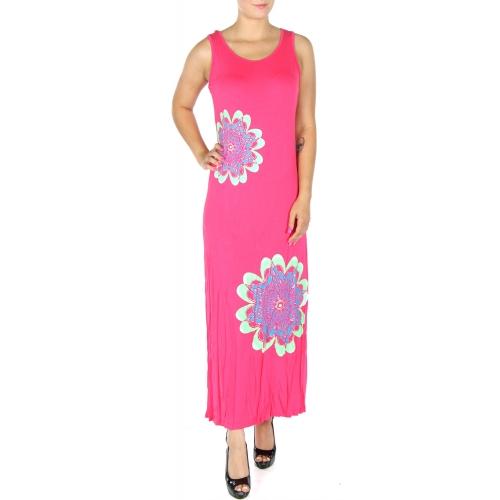 wholesale N06 Metallic flower maxi dress BK fashionunic