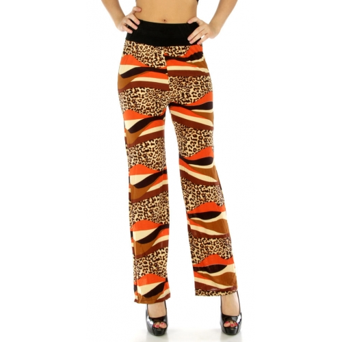 Wholesale B33 Bright cheetah pants OR/BR fashionunic