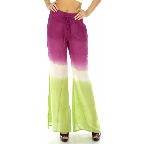 wholesale M01 Tie dye palazzo pants LM fashionunic