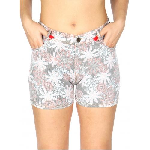wholesale A11 Cotton blend floral short pants
