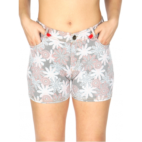 wholesale A11 Cotton blend floral short pants