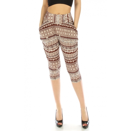 wholesale M13 Tribal abstrct Capris pants BR