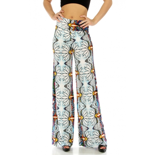 wholesale B28 Wide waistband aztec palazzo pants