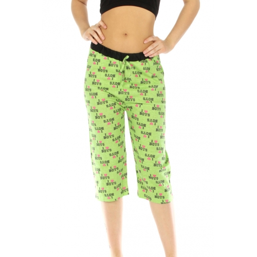 wholesale G36 I love boys print cotton capri pajama