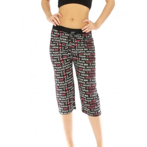 wholesale G36 Love me print cotton capri pajama