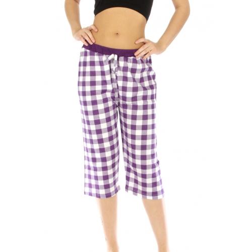 wholesale G36 Capri cotton pajama checker fashionunic