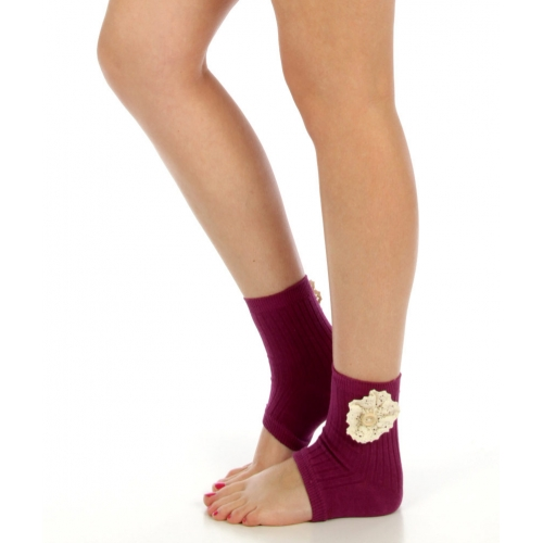 wholesaleG51 Crochet detail cotton blend heel socks PP