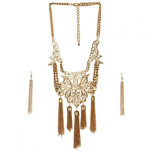 wholesale N42 Kaleidoscope tassel necklace set AG