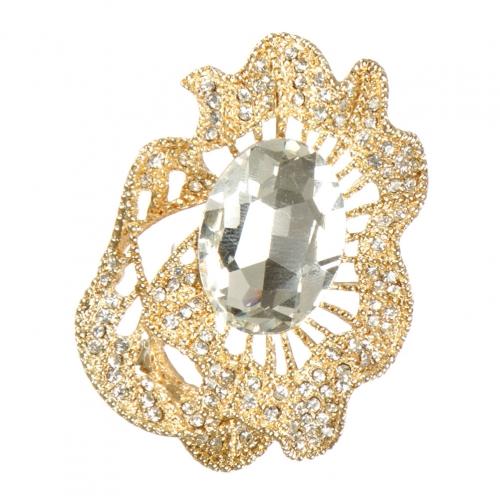 Wholesale M05B Oval stone brooch GCL