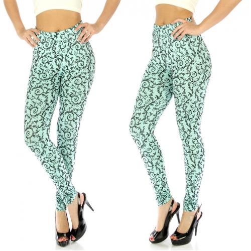 wholesale C47 Embossed velvet leggings BK fashionunic