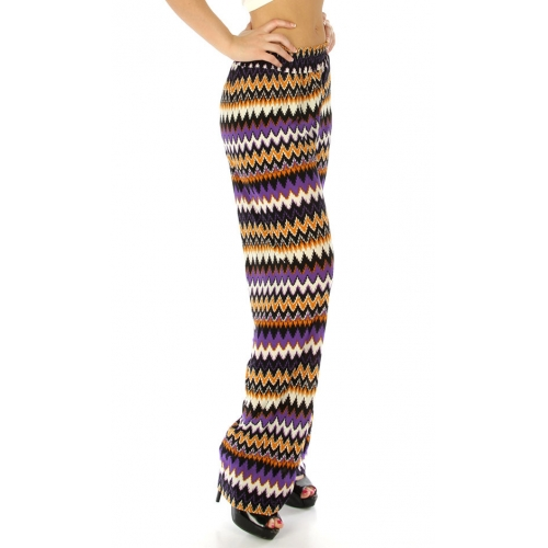 Wholesale M09 Multicolored palazzo pants Purple