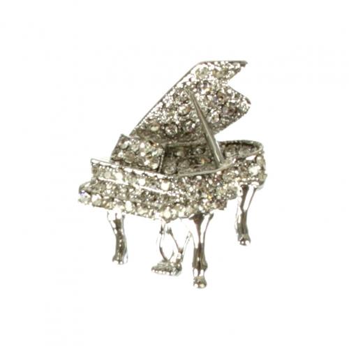 wholesale L13 Silver-tone crystal stud grpiano pin