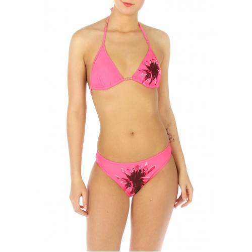 wholesale K77 Single flower bikini swimsuit Pink