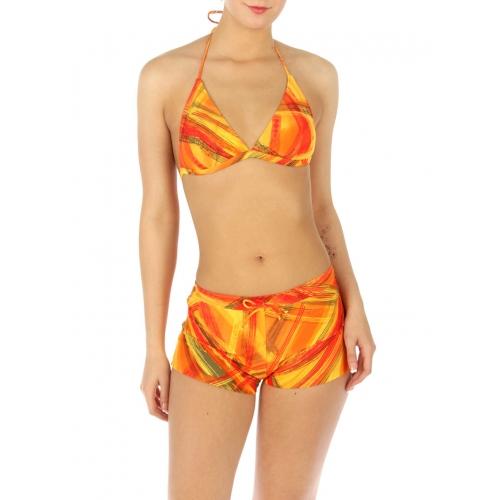 wholesale H13 Abstract line 2 pieces swimsuit Orange