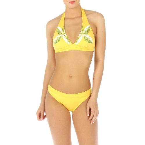wholesale H11 Palm leaves bikini swimsuit Yellow