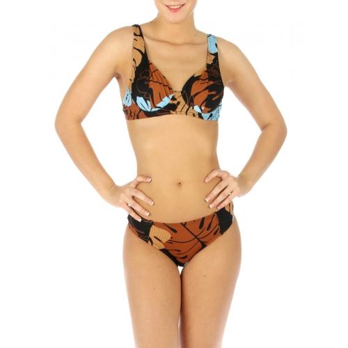wholesale G41 Abstract leaves bikini swimsuit BR/Sky