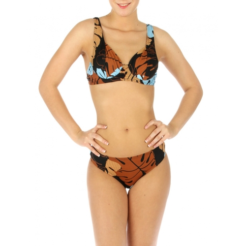 wholesale G41 Abstract leaves bikini swimsuit BR/Sky