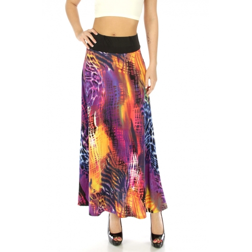 Wholesale M31 Wide waistband skirt Purple fashionunic