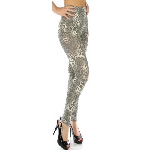 wholesale E40 Print leggings Leopard Grey