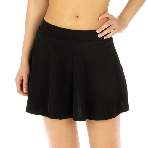 Wholesale E42 Cotton blend skater skirt BK fashionunic