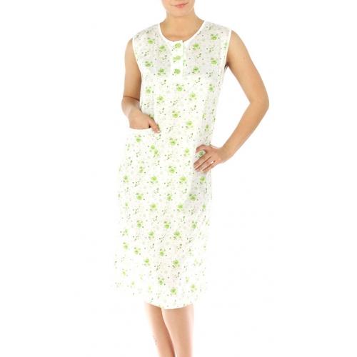 wholesale M37 Cotton blend floral nightgown Green L
