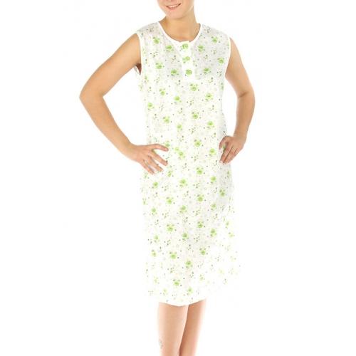 wholesale M37 Cotton blend floral nightgown Green XL