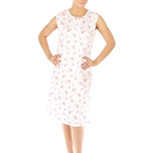 wholesale M37 Cotton blend floral nightgown Pink L