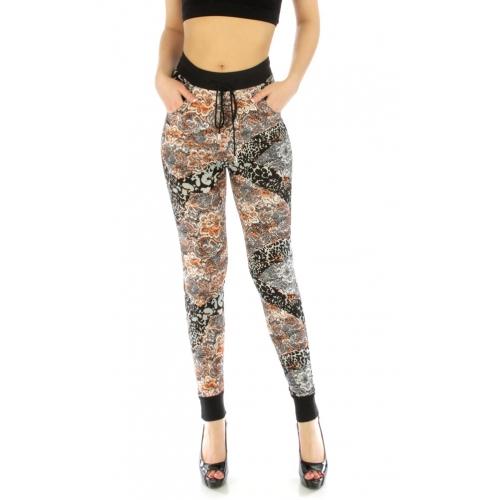 Wholesale E37 Jogger pants Floral Leopard fashionunic