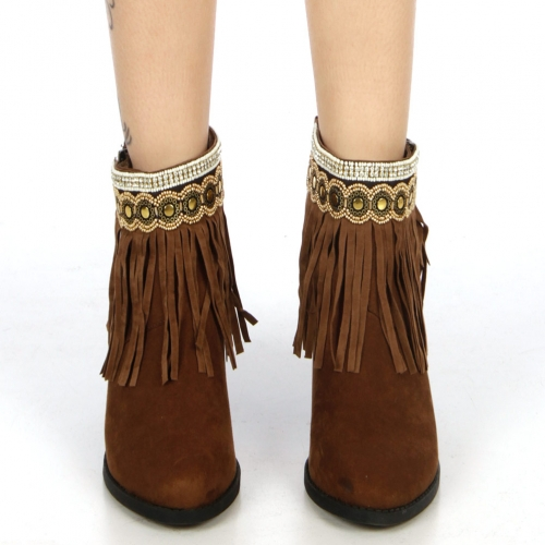 wholesale N36 Suede fringe anklet AGBW fashionunic