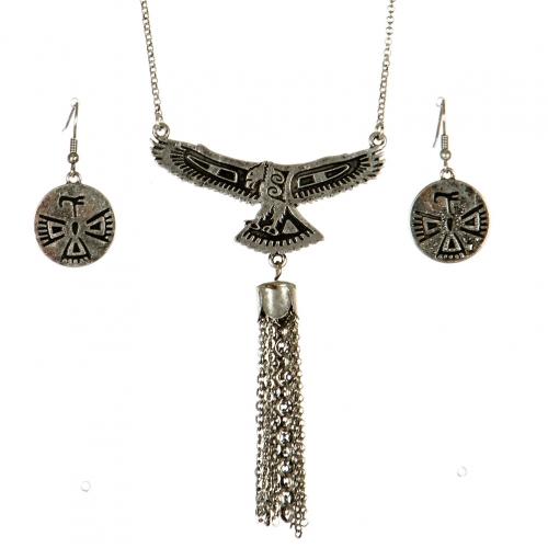 wholesale Native american bird pendant necklace set SB