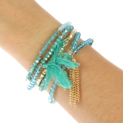 wholesale N30 Bead and chain bracelet GDTQ fashionunic