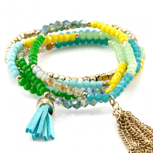 wholesale N30 Bead and chain bracelet GDGR fashionunic