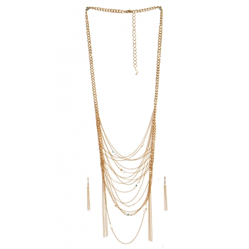 wholesale N40 Multi strand necklace set GDNT fashionunic