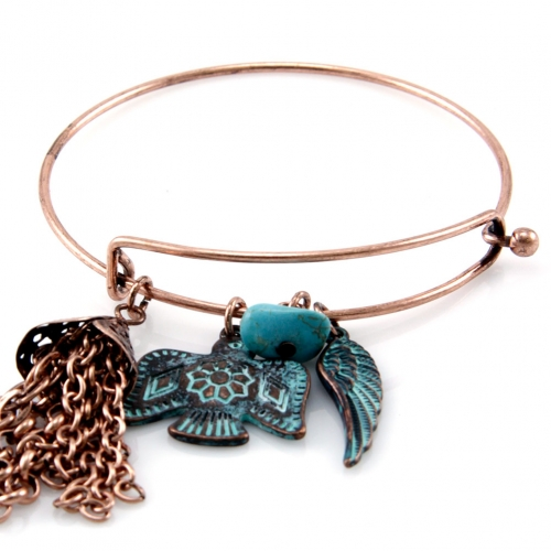wholesale N36 Wing charm bangle OG fashionunic