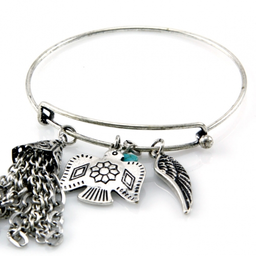 wholesale N36 Wing charm bangle SB fashionunic
