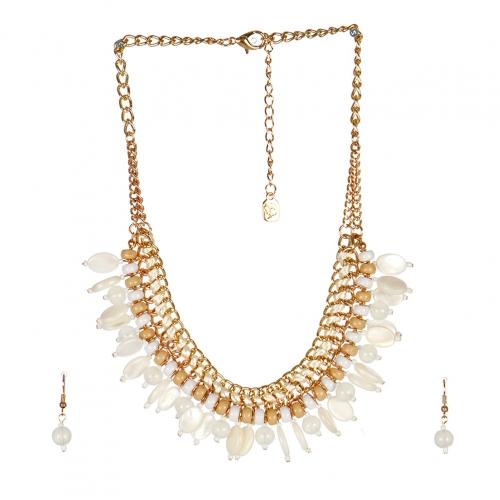 wholesale N40 Multi stone chain necklace set GDNT