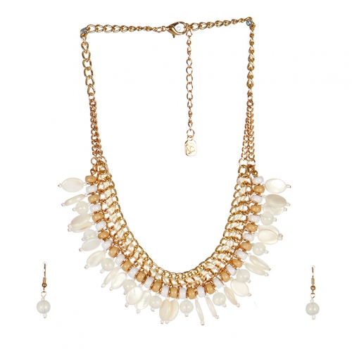 wholesale N40 Multi stone chain necklace set GDNT