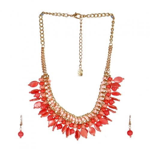 wholesale N40 Multi stone chain necklace set GDPE
