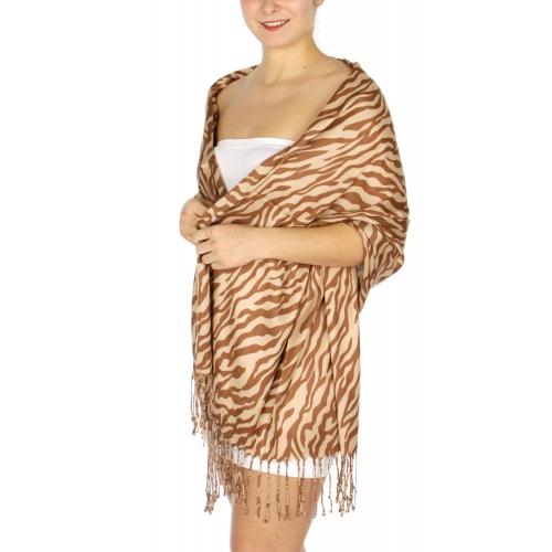 wholesale D03 Zebra print Pashmina WT  fashionunic