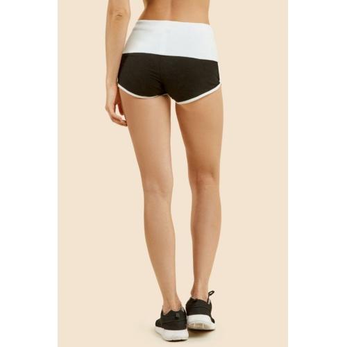 wholesale B12 Cotton dolphin shorts Black/H.Grey