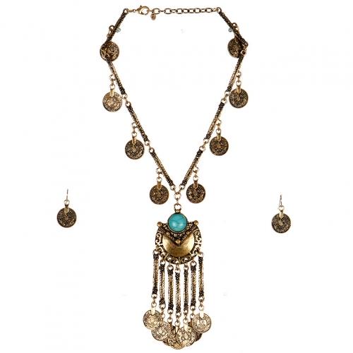 wholesale N44 Coin pendant necklace set GBTQ