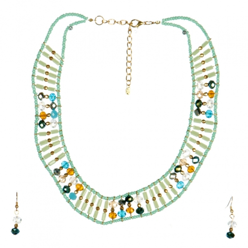 wholesale N44 Beaded collar necklace set GDMN