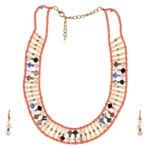 wholesale N44 Beaded collar necklace set GDPE