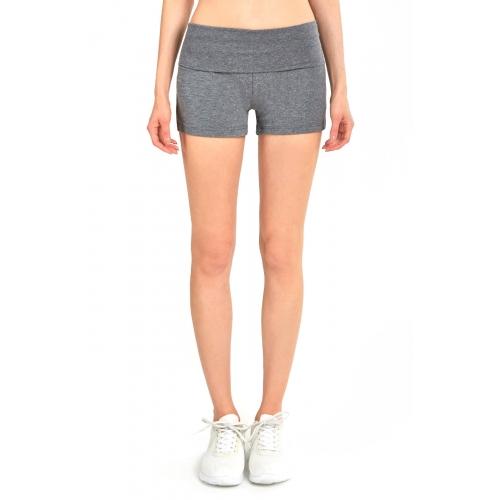 wholesale B11 Cotton yoga short H.Grey