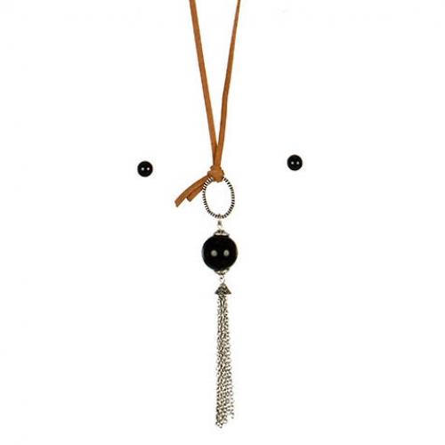 wholesale L13 Chain tassel pendant necklace set BSBK