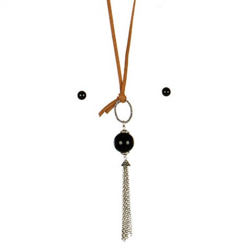 wholesale L13 Chain tassel pendant necklace set BSBK