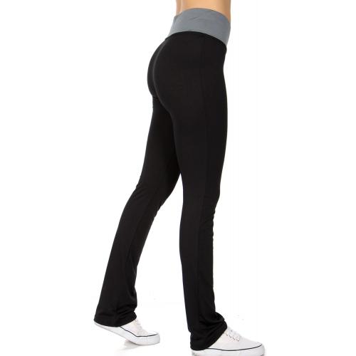 wholesale D41 Color waist yoga pants Grey fashionunic