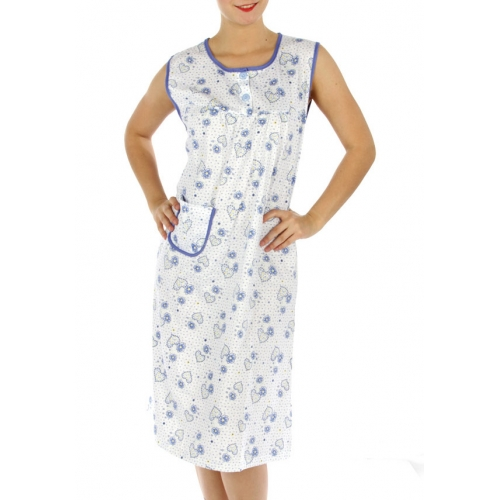 wholesale M02 Cotton blend heart nightgown BU L
